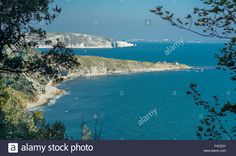 Download this stock image: A view of coastline at Durlston Head, Swanage, Dorset, UK. Taken on 2nd October 2015. - F4CE2Y from Alamy's library of millions of high resolution stock photos, illustrations and vectors.