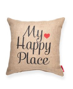 """""My Happy Place"""" Decorative Throw Pillow"