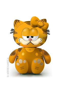 Hello Kitty como Garfield.