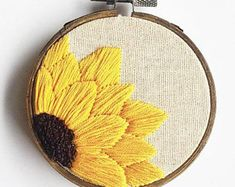 Hand Embroidery - Sunflower Hoop