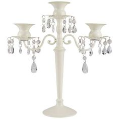 3 Arm Jewelled Candelabra