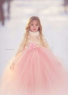 Meg Bitton winter flower girl dress