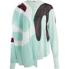 Issa Mint Brigette Print Pleat Blouse featuring polyvore, fashion, clothing, tops, blouses, pleated blouse, green top, mint top, graphic tops and mint blouse