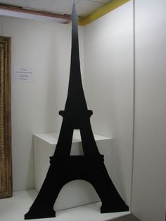 Black Eiffel Tower cut out. Great for photo booth