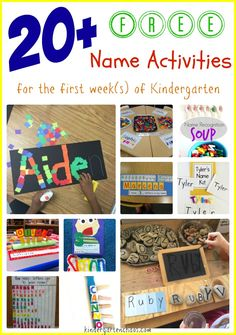 20 Free Name Activities for the First Week of Kindergarten. Check out these amazing hands-on and fun name activities! Integrates multiple skills.