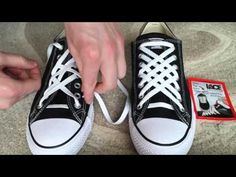 How To Diagonal Lace Converse (7 holes) - YouTube Ways To Lace Shoes 9b0be6cdb