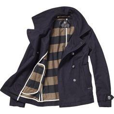 Signature Pea Coat ($155) ❤ liked on Polyvore