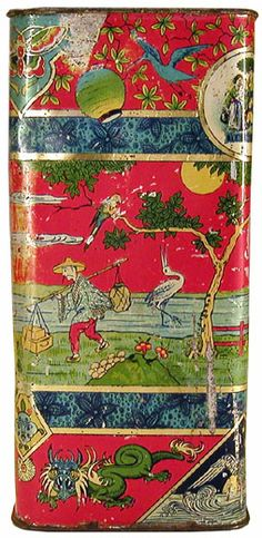 Tea Tin, lovely Aesthetic design