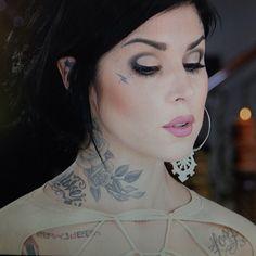 Gorgeous Kat Von D makeup