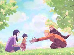 """After pulling an all-nighter, Naruto always comes back home in the early morning; to get changed and, above all, to get his """"Hinata fix"""" Support Me on K. Hinata fix Naruto Uzumaki Shippuden, Naruto Kakashi, Anime Naruto, Naruto Gaiden, Naruto Teams, Gaara, Anime Chibi, Otaku Anime, Shikamaru"""