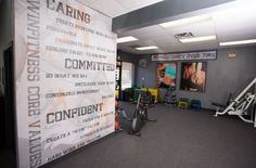 Gym Wall Colors | design your own wall mural for the home gym
