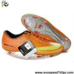 Buy New Orange Yellow Red Nike Mercurial Vapor IX FG Soccer Boots For Sale