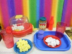 Fisher Price Fun With Play Pretend Food POPPITY POPCORN POPPER LOT 73336