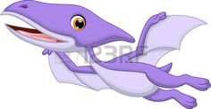 Cute pterodactyl cartoon photo