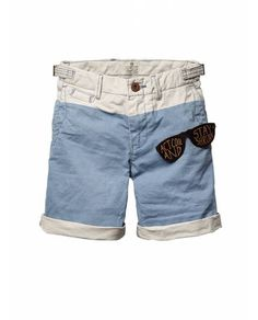 Colour block chino shorts act cool, stay shrunk scotch shrunk