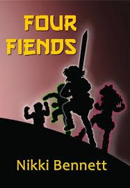 Four Fiends by Nikki Bennett. Daughter and Mom give it 5 stars. Magic, mythology, fantasy, adventure for tweens. Ages 8+