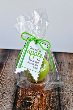 Whip up this caramel apple kit to deliver to friends and family for a treat!