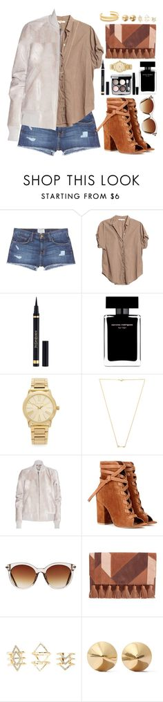 """Street Style"" by oshint ❤ liked on Polyvore featuring Current/Elliott, Xirena, Chanel, Narciso Rodriguez, Michael Kors, Wanderlust + Co, Rick Owens, Gianvito Rossi, Icon Eyewear and Rebecca Minkoff"