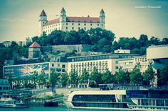 bratislava castle, Slovakia Bratislava, Urban Photography, Taj Mahal, Castle, Mansions, House Styles, Building, Places, Travel