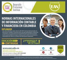Inscríbete al #Diplomado Normas Internacionales de Información Contable y Financiera en Colombia.