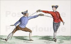 Louis Hersent - Fencing, 18th Century