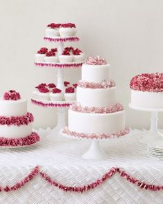 "See the ""Blooming Cakes"" in our Elegant and Inexpensive Wedding Flower Ideas gallery"
