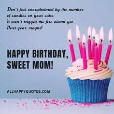 Funny and Sweet Happy Birthday Wishes for Mother and Mother in Law. Beautiful Birthday Wishes for Mom with cards and letters. Birthday Wishes For Mother, Beautiful Birthday Wishes, Birthday Wishes For Myself, Happy Birthday Wishes, To My Mother, Birthday Candles, Sweet, Places, Cards