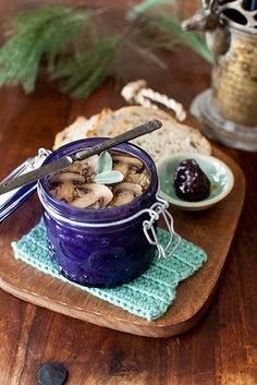 Chicken liver pate with mushrooms and sage, served with fig preserves by Yelena Strokin, via Flickr