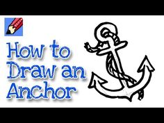 How to Draw an Anchor: 8 Steps (with Pictures) - wikiHow Anchor Clip Art, Ship Anchor, Broken Drawings, Easy Drawings, Beginner Painting, Diy Painting, Painting Canvas, Anchor Painting, Tattoos For Baby Boy