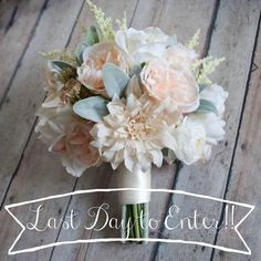 It's Cyber Monday!! Today's the last day to enter to win our most popular wedding bouquet!  Click on our bio link to enter our giveaway before midnight tonight!!