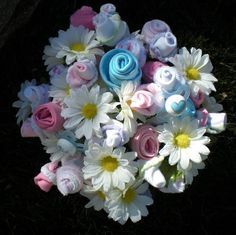 baby bouquet..onesies and flowers
