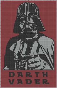 Who Is Your Daddy afghan graph, crochet pattern, tunisian crochet, afghan, graphghan, picture crochet