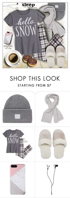 """""""Lovely Loungewear"""" by shoaleh-nia ❤ liked on Polyvore featuring Acne Studios, UGG, Natori and Forever 21"""
