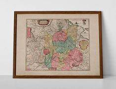 Old Map of Lithuania, originally created by Willem Janszoon Blaeu, now available as a 'museum quality' historic style print. Old World Maps, Vintage World Maps, Historical Maps, Lithuania, Travel Posters, Giclee Print, Create Yourself, Museum, Prints