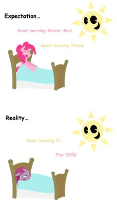 """Pinkie Pie Greets The Sun With a Hearty, """"Buck You"""""""