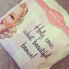 Even our office cushions are dishing out #brow compliments! #benefitcosmetics