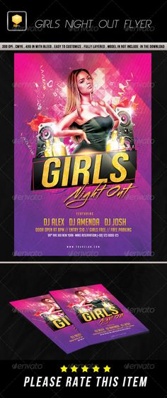 Girls Night Out Flyer  Girls Night And Font Logo