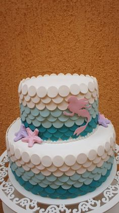 The Little Mermaid Birthday Party Ideas / Festa A Pequena Sereia Ariel / Bolo Cenográfico Cupcakes, Cupcake Cakes, Frosty Recipe, Little Mermaid Cakes, Fake Cake, Mermaid Parties, Ice Cream Party, Mermaid Birthday, Pretty Cakes