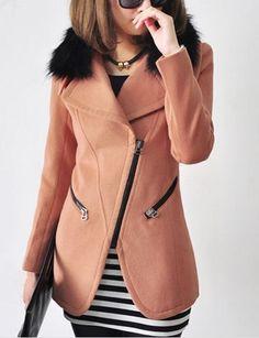Women' Fancy Lapel Overcoat Overcoats from fashionmia.com