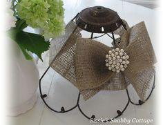 Rust and Burlap decorative lamp shade