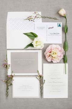 garden wedding invitations - photo by Kelly Sweet Photography http://ruffledblog.com/botanical-garden-wedding-with-glass-ceilings #weddinginvitations #stationery