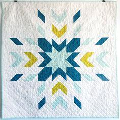 Modern Solids Glacier Baby Quilt by JenniferMeakins on Etsy