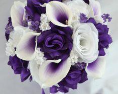 17 pieza paquete ramo boda Ramos de seda flores por LilyOfAngeles