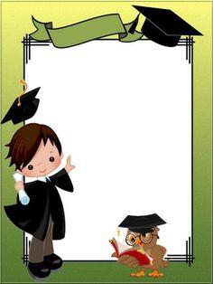 مدرسة الإخاء الإسلامية Graduation Clip Art, Graduation Images, Kindergarten Graduation, Graduation Party Decor, Graduation Invitations, In Kindergarten, Graduation Ideas, Boarder Designs, Page Borders Design