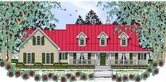 House Plan 75045 | Country   Farmhouse   Plan with 1648 Sq. Ft., 3 Bedrooms, 2 Bathrooms, 2 Car Garage