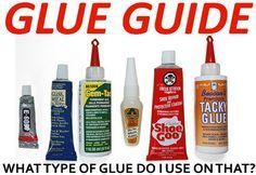 What Is The Best Adhesive To Glue This To That? Glue Guide Chart Read more: http://removeandreplace.com/2014/07/16/what-is-the-best-adhesive-to-glue-this-to-that-diy-glue-guide-chart/#ixzz37fyZVfyx