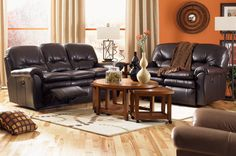 Perfect size reclining sofa and loveseat for our living room.
