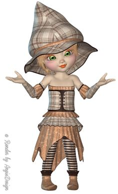 *Angie's Free Poser Tubes*: Tubes Kiki Autunm Witch