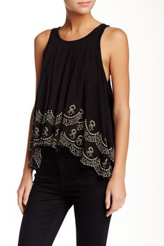 Free People | Attina Scalloped Tank | Nordstrom Rack