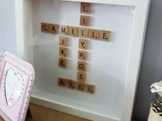 Une Idée de CADEAU personnalisé : le cadre Scrabble !